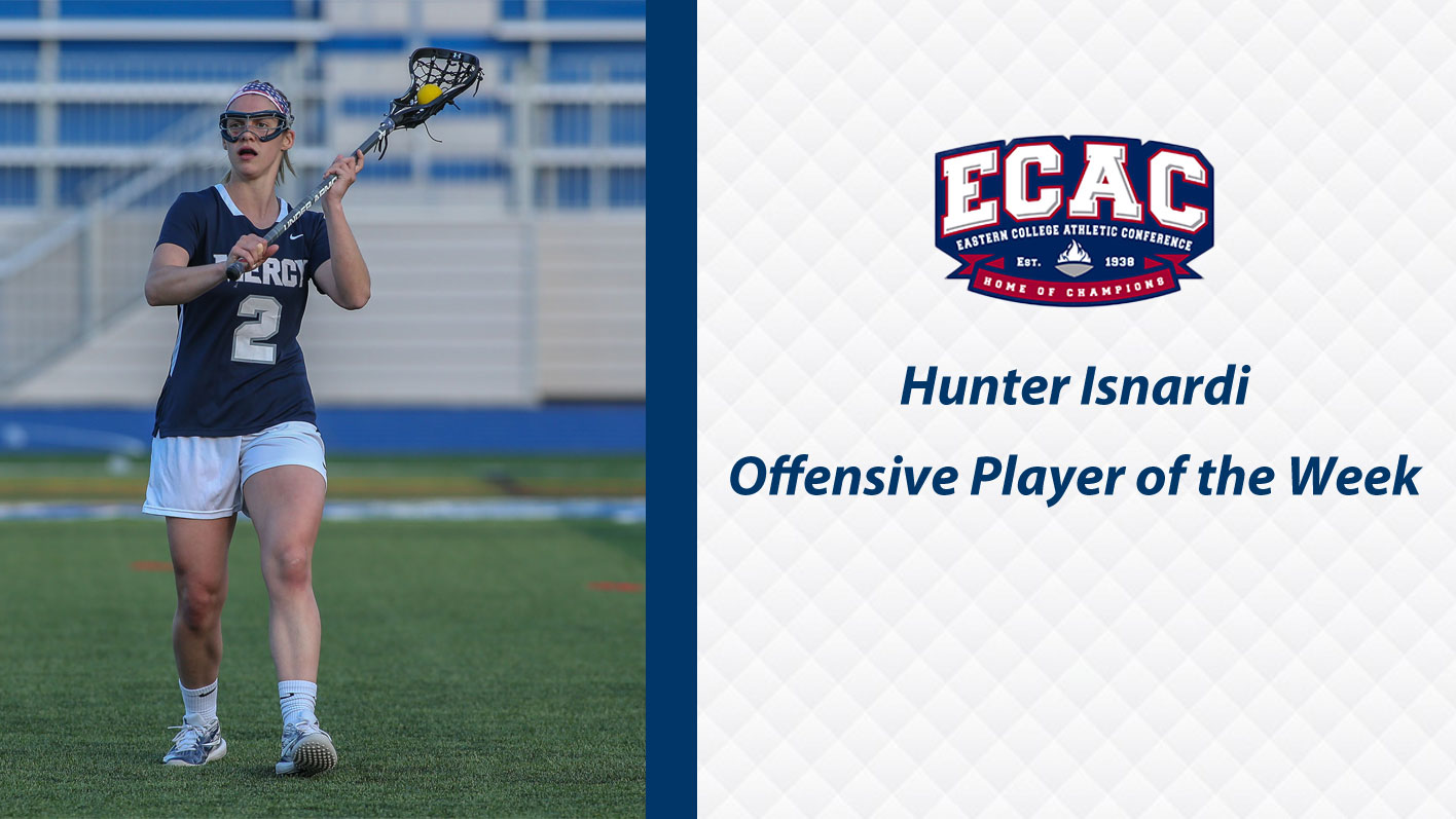 isnardi named ecac women s lacrosse division ii offensive player of